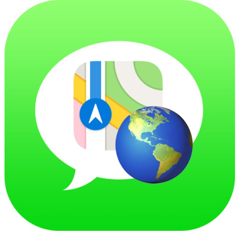 Share current location from iPhone in Messages the fast way with a phrase