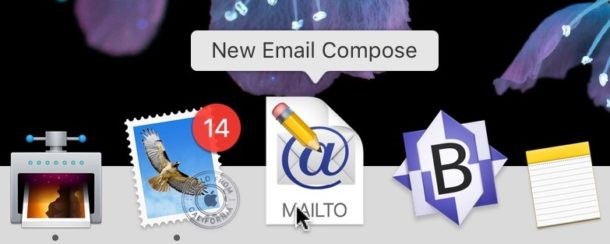 How to create a custom New Email Message compose shortcut for the Dock on Mac