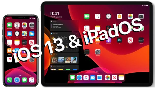 iOS 13 and iPadOS 13