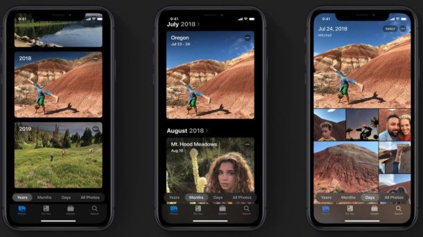 iOS 13 photos features