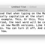 Disable auto capitalizing words on Mac