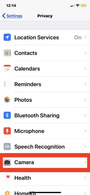 How to disable camera access for apps on iPhone and iPad