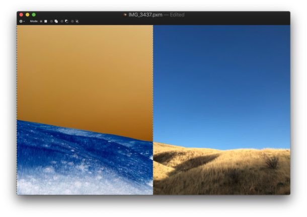 Invert image on Mac with Pixelmator keystroke