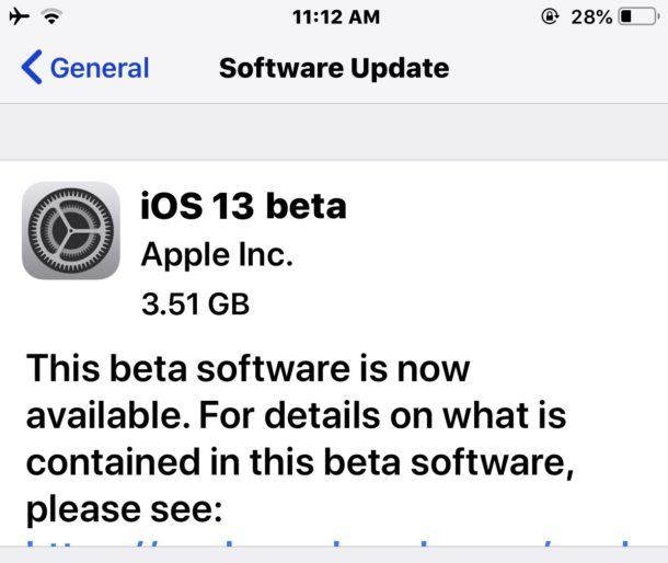 iOS 13 beta download