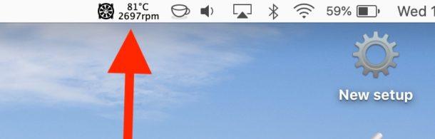 See Mac Fan speed and Mac temperature from menubar