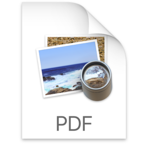 PDF icon on Mac