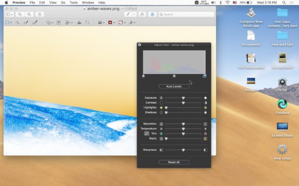 How to invert a picture on Mac