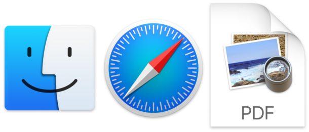 Save webpage as PDF on Mac with Safari