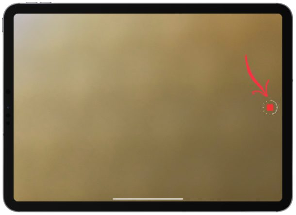 Stop recording the time-lapse video on iPad