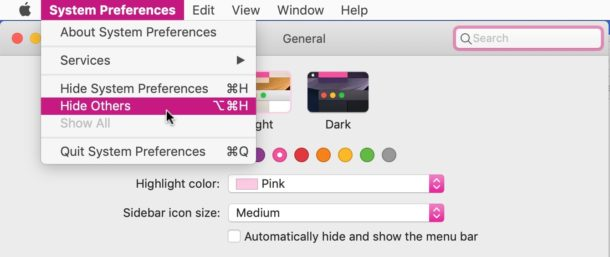 How to change accent color on Mac OS