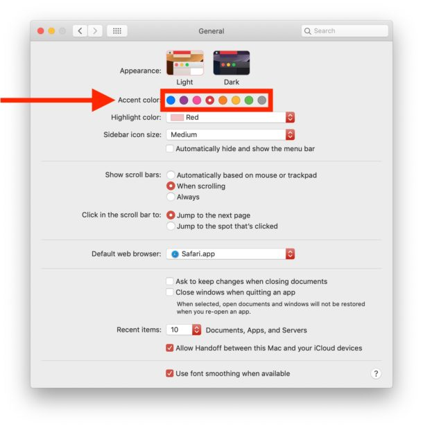How to change accent color on MacOS