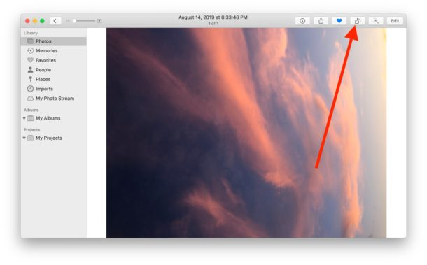 How to rotate photos on Mac Photos app