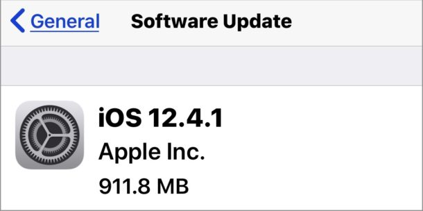 iOS 12.4.1 update download