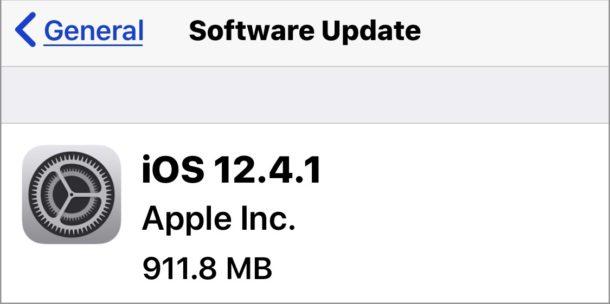 iOS 12.4.1 update download