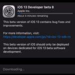 iOS 13 developer beta 8 downloading