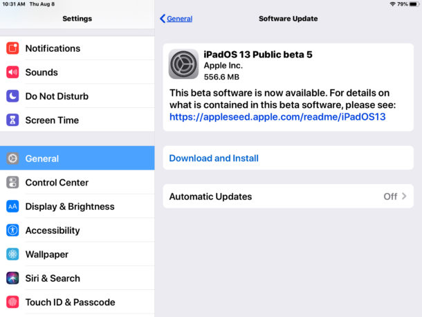 iPadOS 13 public beta 5 and iOS 13 public beta 5 are available to download now