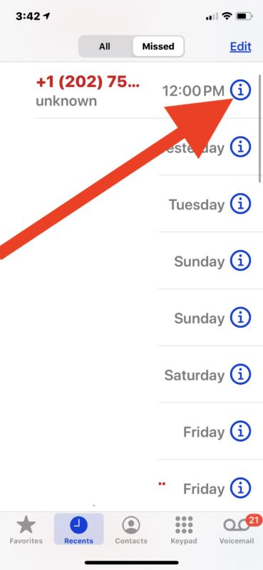 How to add new contact directly from phone call list to iPhone