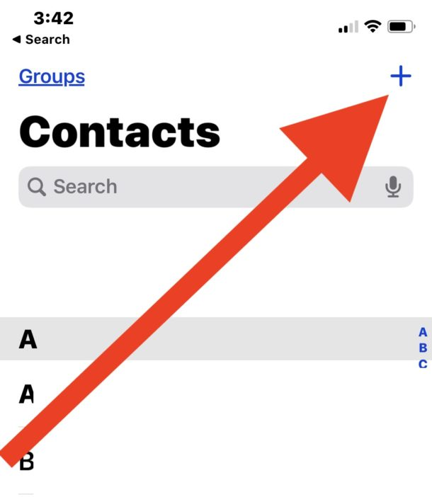How to add a new contact to iPhone
