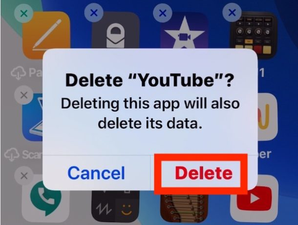 How to delete apps in iOS 13 step 4