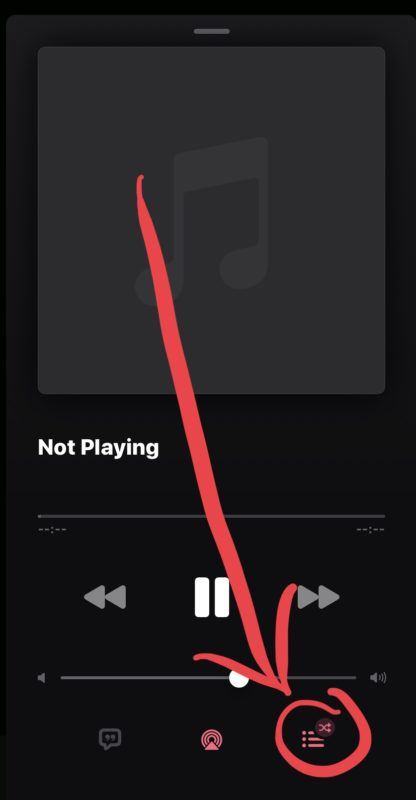 How to repeat a song in Music for iOS 13