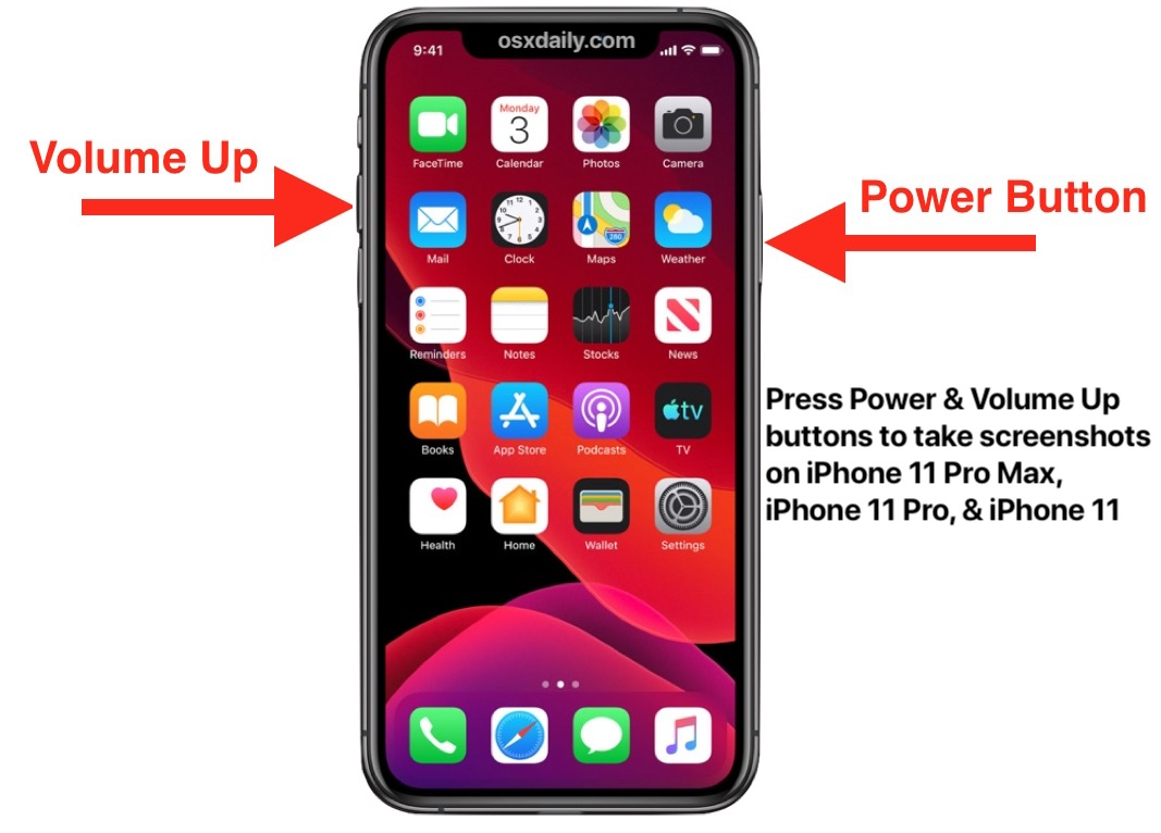 How To Take A Screenshot On Iphone 11 Iphone 11 Pro Iphone 11 Pro Max Osxdaily