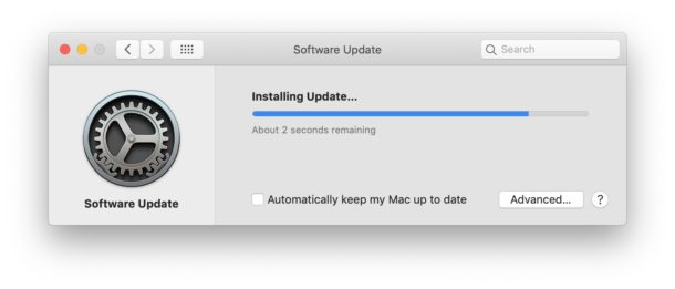 Installing specific software updates on Mac