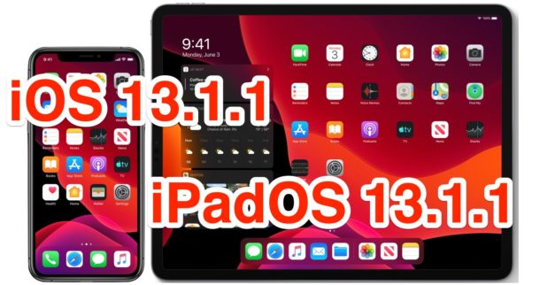 iOS 13.1.1 and ipadOS 13.1.1 updates