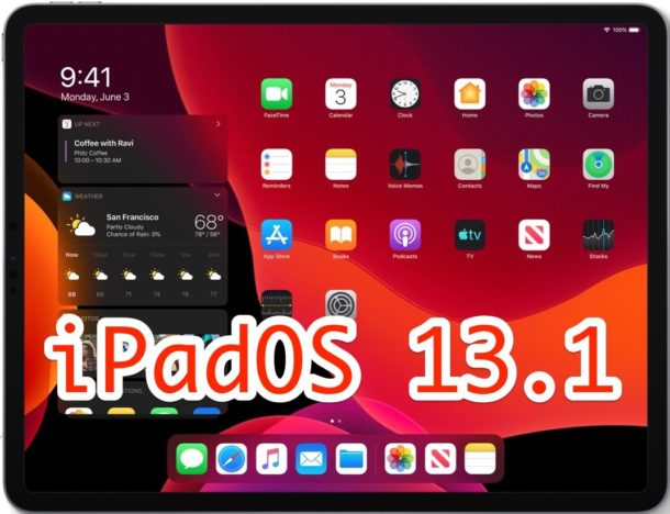 iPadOS 13.1 download is available now