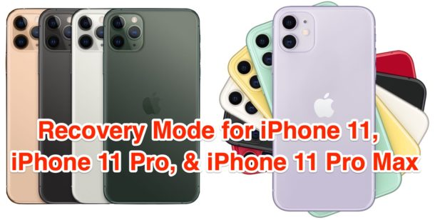 How to use Recovery Mode on iPhone 11, iPhone 11 Pro, iPhone 11 Pro Max