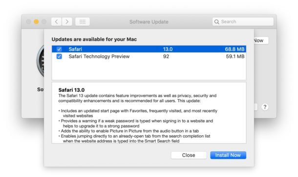 Safari 13 for Mac