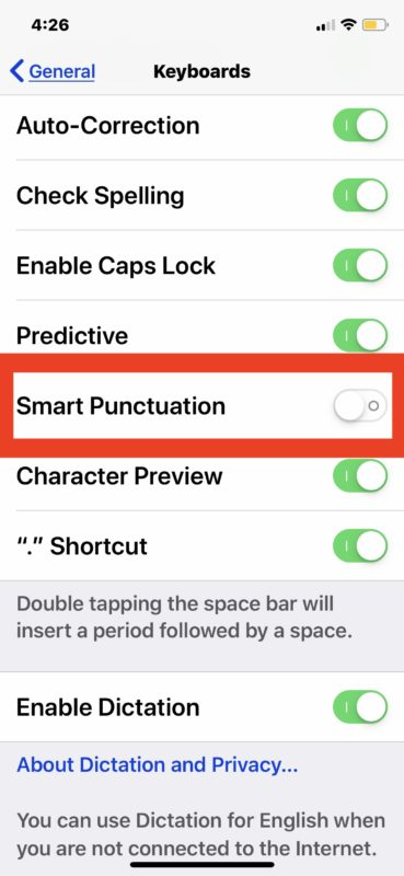 How to type straight quotes on iPad and iPhone instead of curly quotes