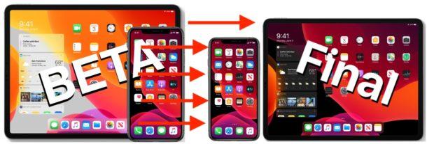 Update iOS or iPadOS beta to final