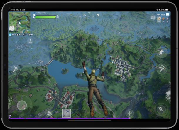Fortnite on iPad Pro