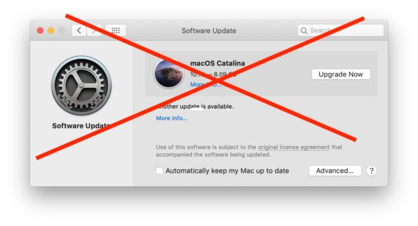 How to hide MacOS Catalina update on Mac