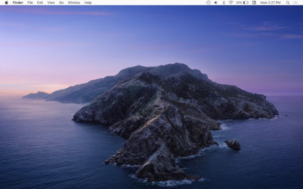 Mac with MacOS Catalina desktop