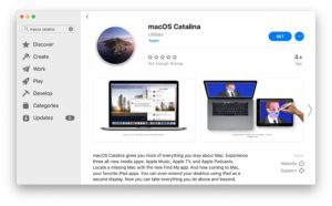 MacOS Catalina available to download and install