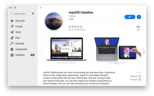 MacOS Catalina on Mac App Store