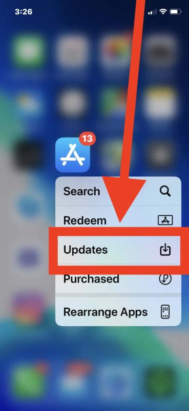 How to access Updates in App Store on iPhone and iPad from Home Screen