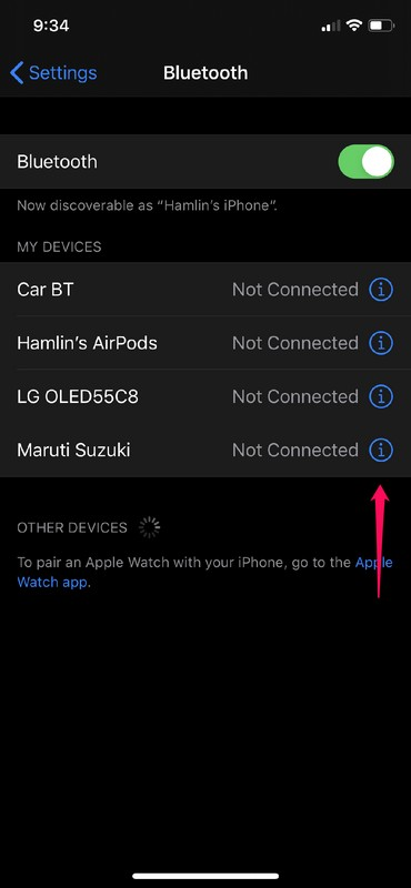 How to Switch Bluetooth Devices from Control Center on iPhone