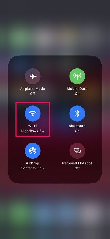 How to Switch Wi-Fi from Control Center on iPhone