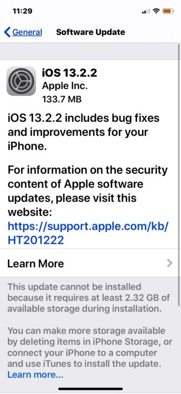 iOS 13.2.2 update download
