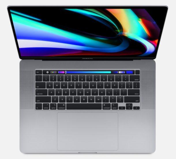 MacBook Pro 16 inch model