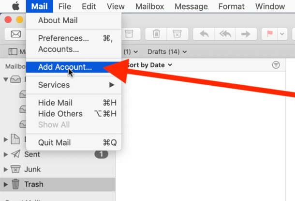 How to add Outlook email to Mac