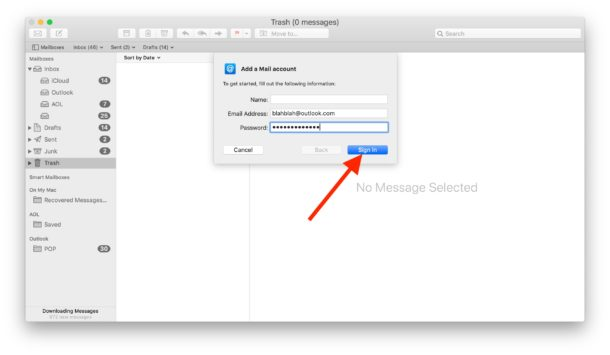 How to add an Outlook email account to Mac