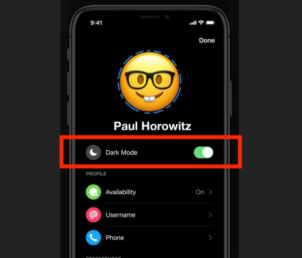 How to turn on Dark Mode with Facebook Messenger