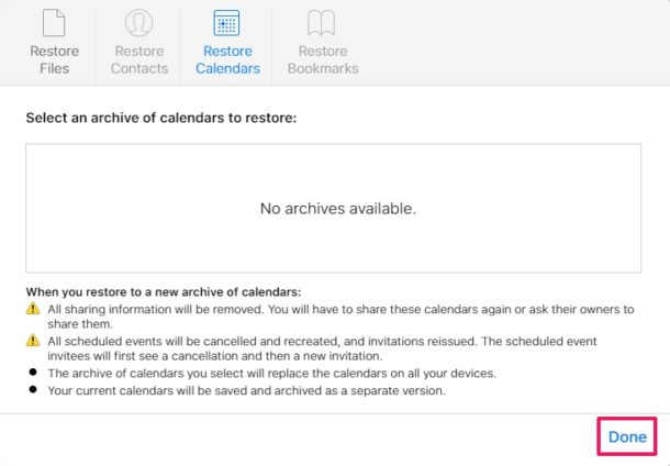 How to Restore Lost Calendars and Reminders with iCloud