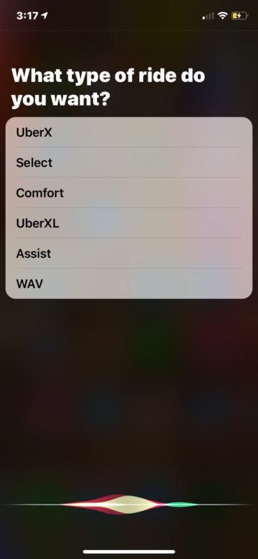How to get Uber ride with Siri on iPhone