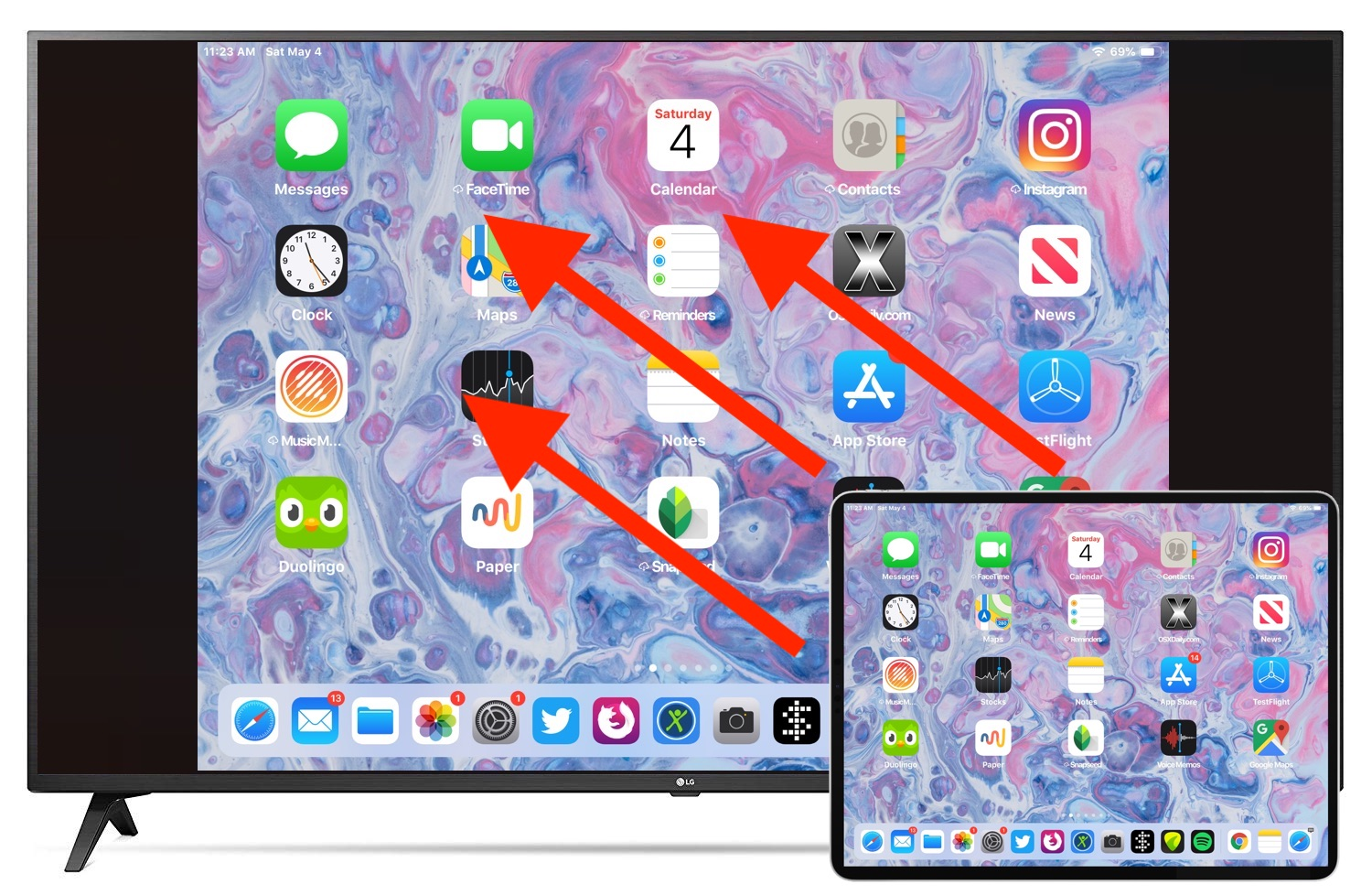 Or Ipad Screen To Apple Tv With Airplay, How To Mirror Iphone Older Tv