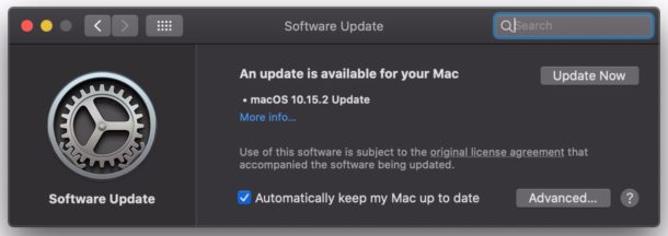 MacOS Catalina 10.15.2 update download