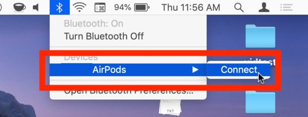 How to switch AirPods from iPhone or iPad to Mac